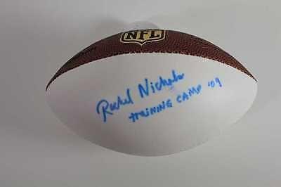 Rachel Nichols Signed Wilson NFL Mini Football ESPN 2009 Training Camp Insc.