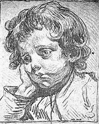 Jean-Baptiste Greuze - Testa d'infante