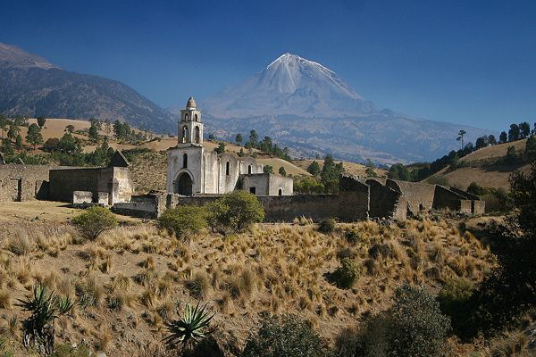 by ©haddock on Flickr.  Abandoned hacienda at the footsteps of Pico de Orizaba, the highest point in Mexico, and the 3rd highest in North America at 5611m.