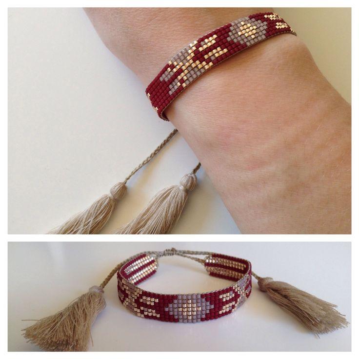 17 meilleures id es propos de bracelets en perles de rocaille sur pinterest brassard - Bracelet a faire soi meme ...