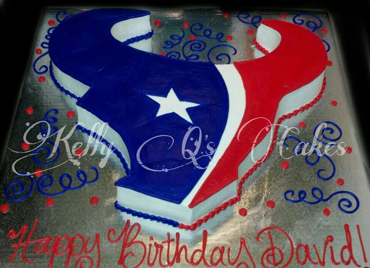 Texans cake! https://www.facebook.com/ KellyQLovesCake