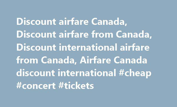 Best airfare deals canada