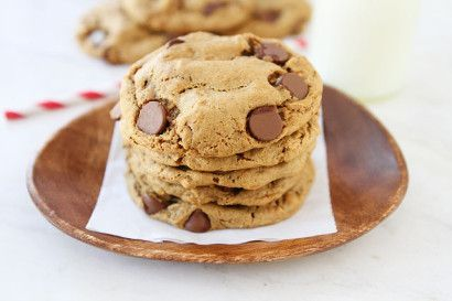 Flourless/Gluten Free Peanut Butter Chocolate Chip cookies- only like 6 ingredients.