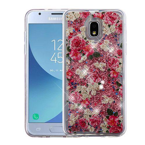 Airium Quicksand Glitter Hybrid Protector Cover For Samsung J337 Galaxy J3 2018 European Rose Rose Gold In 2021 Samsung Galaxy J3 Galaxy J3 Phone Cases Samsung Galaxy