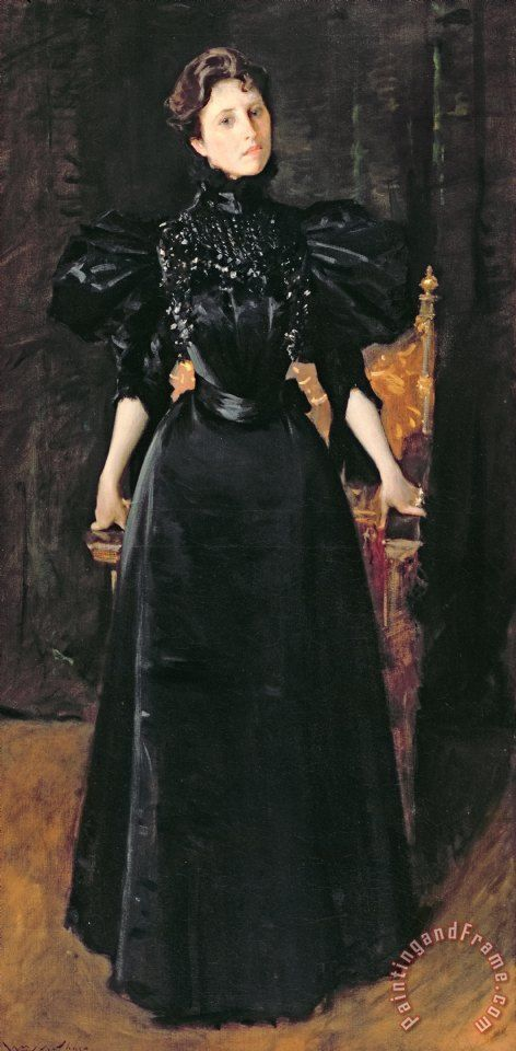 """the-art-of-mourning: """"Portrait of a Lady in Black"""", c. 1895, by William Merritt Chase (American, 1849-1916). Source"""