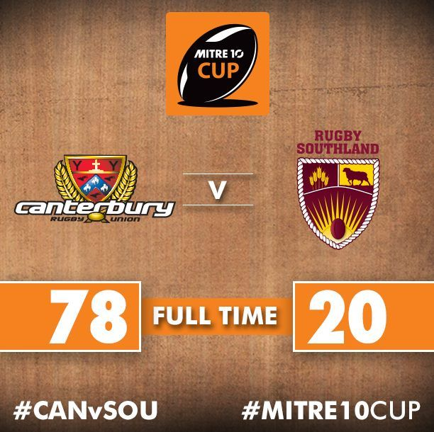 Canterbury Rugby have scored an incredible 61 points in the second half to retain the #RanfurlyShield against Rugby Southland.