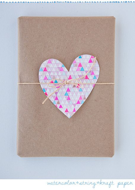 Heart gift wrapping