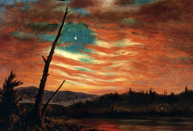 Our Banner in the Sky - Frederic Edwin Church, 1861