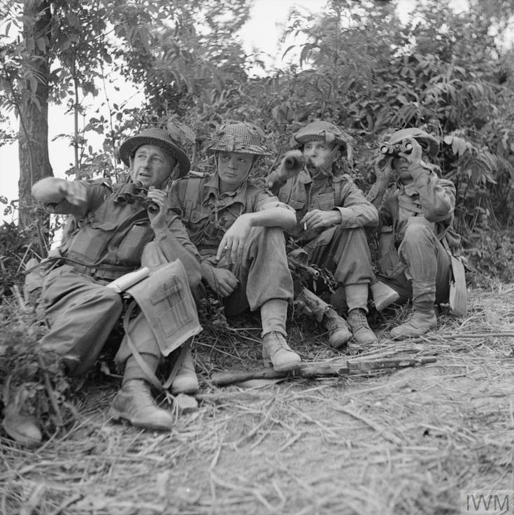 Platoon commanders of 7th Oxfordshire and Buckinghamshire Regiment are briefed for an attack on German forces in the village of Gemmano, 6 September 1944.