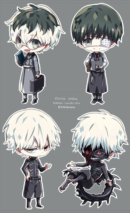 Yes! All the Kanekis. Haise, Kuroneki, Shironeki, Centipede. Who's the real Kaneki? The world may never know. Pinterest : ❀➳ acxdwaves ➳❀
