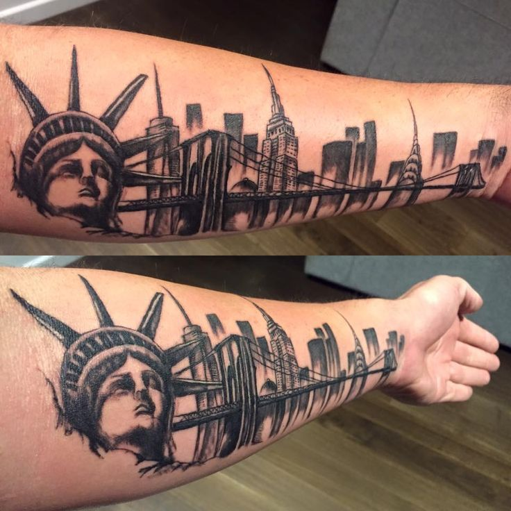 My New York City Skylike Tattoo by Tracey of Shinto tattoo Gallery in Geelong Australia