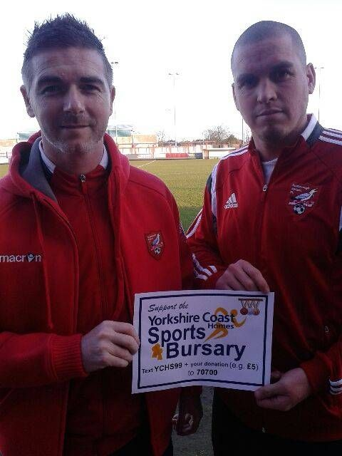 #Scarborough Athletic show support for YCH Sports Bursary Scheme.  #321YCH #YCH #Community