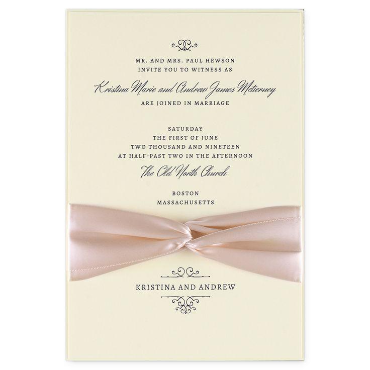 Valencia EInvite Wedding Wedding Invitations Traditional | EInvite.com