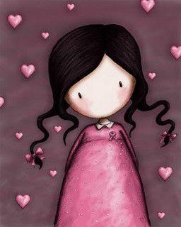 Gorjuss.  Les femmes sont toujours cette petite fille plein d'amour qu'elle dissimule.