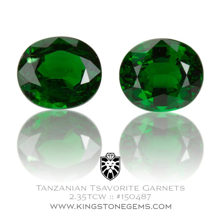 Tanzanian Tsavorite Garnet Pair - 2.35tcw - 6.76X5.89X4.11mm - SKU# 150487 - We have many amazing pairs of beautiful precious gemstones in our collection.