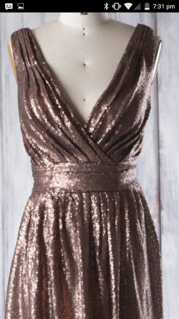 1000 Ideas About Bronze Bridesmaid Dresses On Pinterest