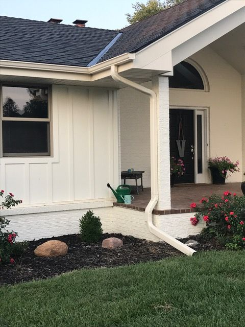 Farmhouse Ranch Exterior Makeover Painted Brick And