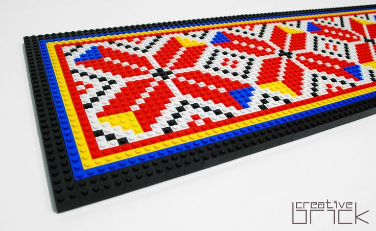 Around 1550 LEGO bricks used, Dimensions: 96,5 cm x 26,3 cm (37,8 inch x 10,2 inch) by www.creativebrick.ro