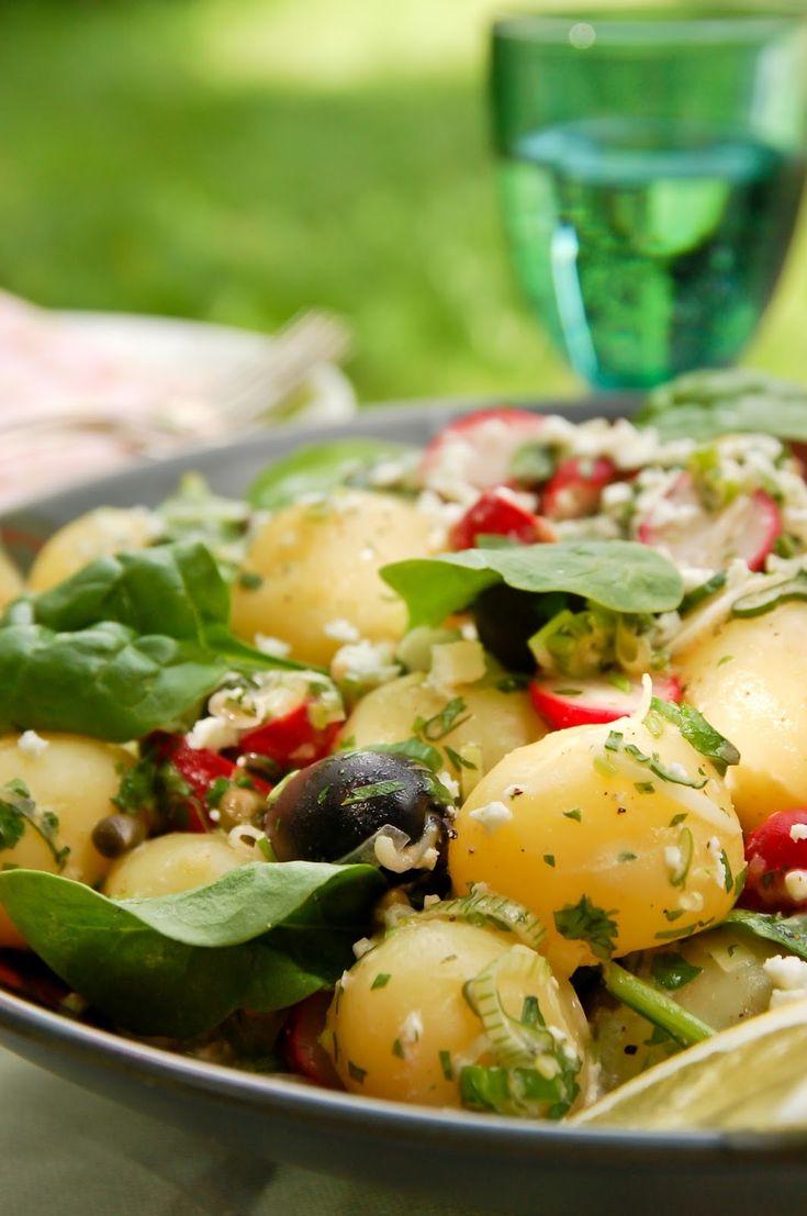 Kreikkalainen perunasalaatti / Greek potato salad