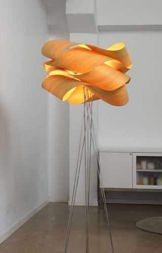 Table lamp / original design / in wood / tripod LINK by  Ray Power Lzf-Lamps