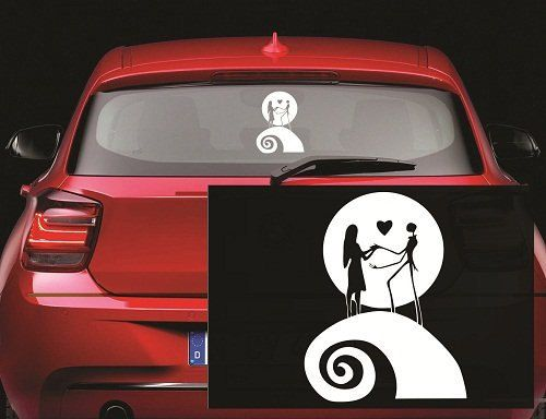 Jack and sally moon nightmare before christmas decal by posterlive