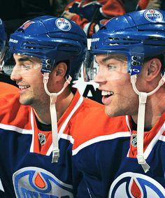 Jordan Eberle and Taylor Hall Edmonton Oilers