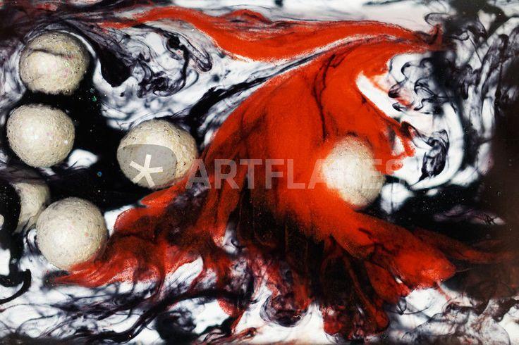 Fotografie Fluid Ii Modernes Abstraktes Bild In Rot