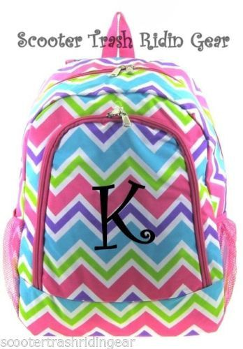 Personalized Backpack Bookbag Chevron Zig Zag by STRGembroidery, $38.99