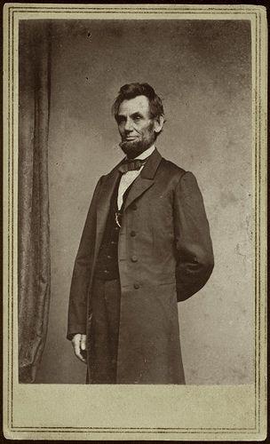 President Abraham Lincoln, 1863.