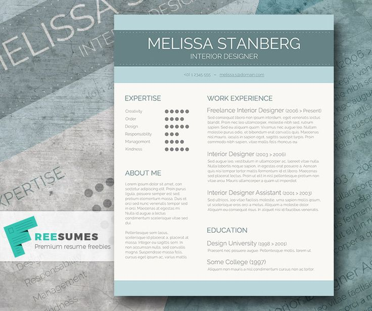 79 best Free Resume Templates For Word images on Pinterest Free - cv and resume templates
