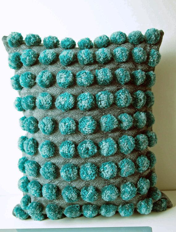Hand woven Decorative Pillow / Throw Cushion by IvelleTheHappyCow, €75.00