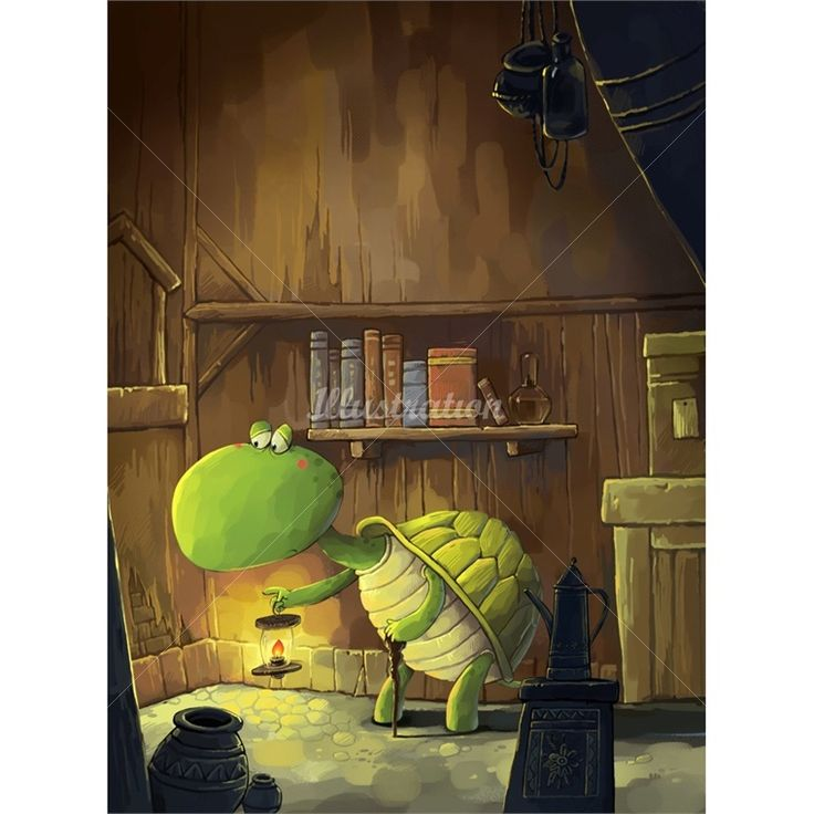 Xiao XIn is a children's book illustrator, specialized in childrens book illustrations - cute tortoise!