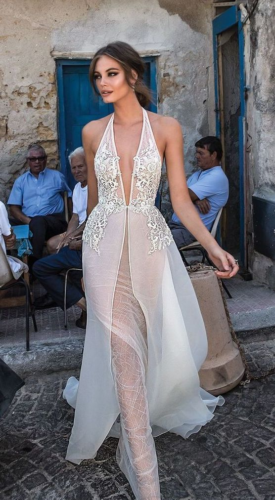 80+ deep v neck wedding dresses ideas | pajamas | wedding dresses