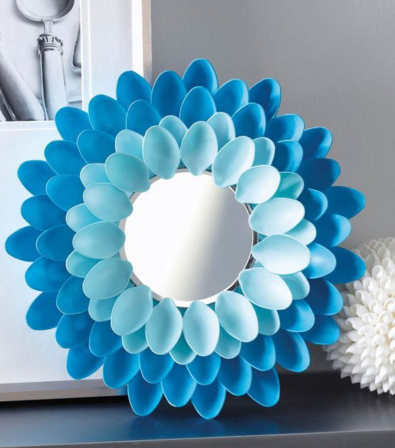 #DIY Mirror | Learn how to make this decorative ombre spoon mirror | Find #homedecor products at Joann.com