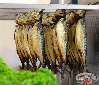Рыба копченая салат