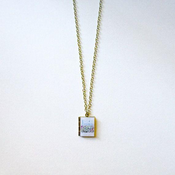 Everything Everything by  Nicola Yoon Book Necklace/Literary Necklace/Book Locket Necklace/Bookmark/Keyholder/Bag Charm/Bracelet