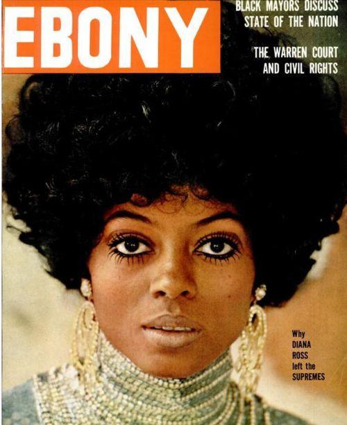Diana Ross, vintage Ebony cover: Diana Ross Hair, Divas Diana, Ebony Magazines, Covers Girls, Ebony Covers, Black History, Black Beautiful, Magazines Covers, Beautiful Vintage
