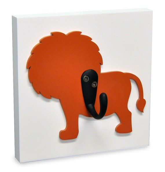 Lion safari kids decorative wood wall hook lions pinterest wood walls woods and kids rooms - Kids decorative wall hooks ...