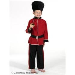 Royal Guard Soldier Uniform Costume Age 4-10 Years Childrens Childs Kids Fancy Dress Outfit
