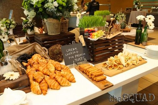 TSH - School of Tourism & Hospitality - did us and the guests proud with their breakfast delights.