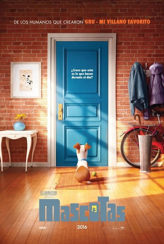 Mascotas. | Estrenos de cine  http://www.kidearea.com/mascotas-peliculas-infantiles/  #mascotas #cartelera #cine #estreno #agosto2016 #peliculasparaniños#cineinfantil #finde #planenfamilia #ocioinfantil #comedia #animacion
