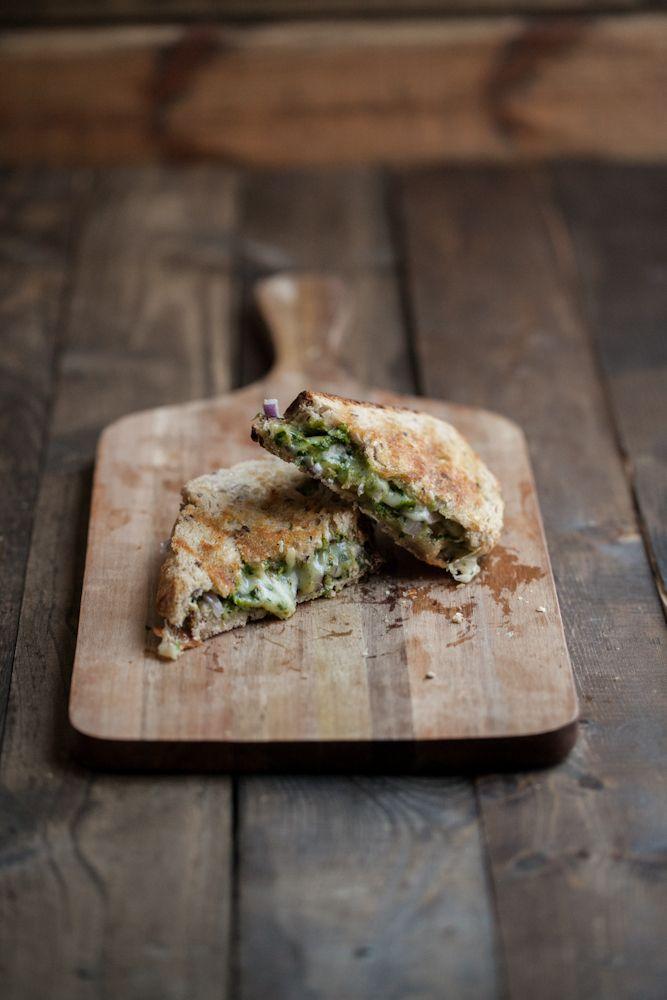 Pistachio-Parsley Pesto & Grilled Taleggio Cheese Sandwich   Naturally Ella