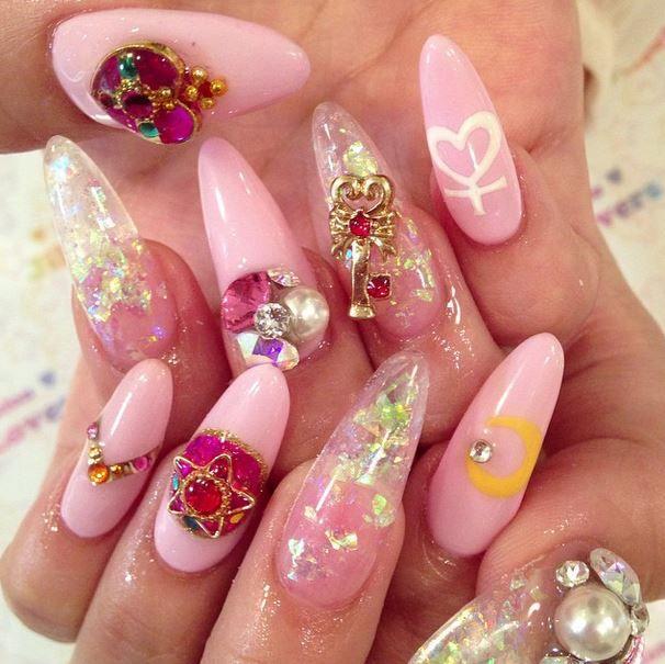 Sailor Moon nails by Jill & Lovers (Japan)