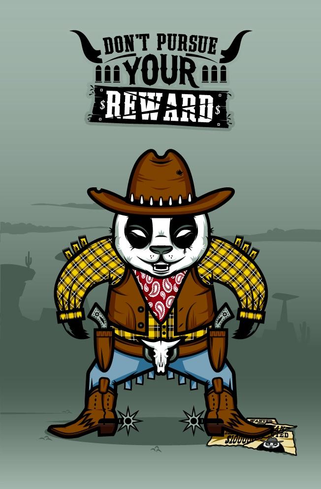 """DOKU"" The Giant Panda   BANDITO   Don't pursue your reward"