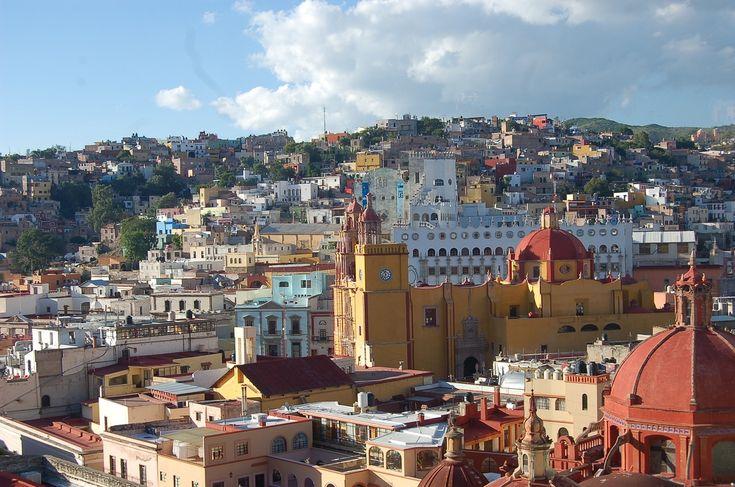 Guanajuato, City, Mexico, Landscapes, Sky, View