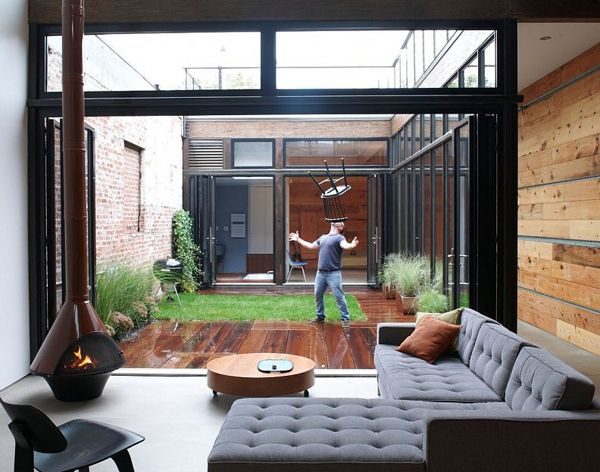 North Brooklyn home with a center atrium by MESH Architects #patio #backyard #garden #courtyard #atrium