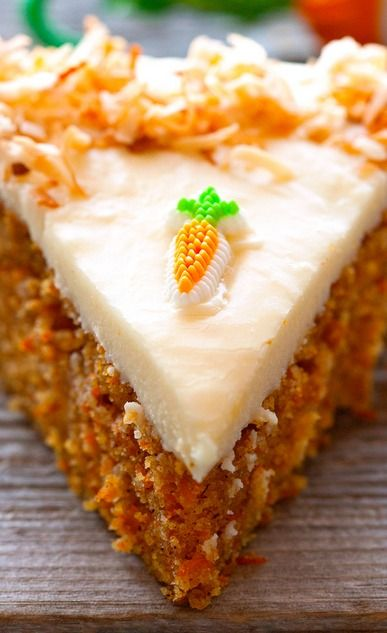 Scrumptious Carrot Cake with Cream Cheese Frosting - #Easter