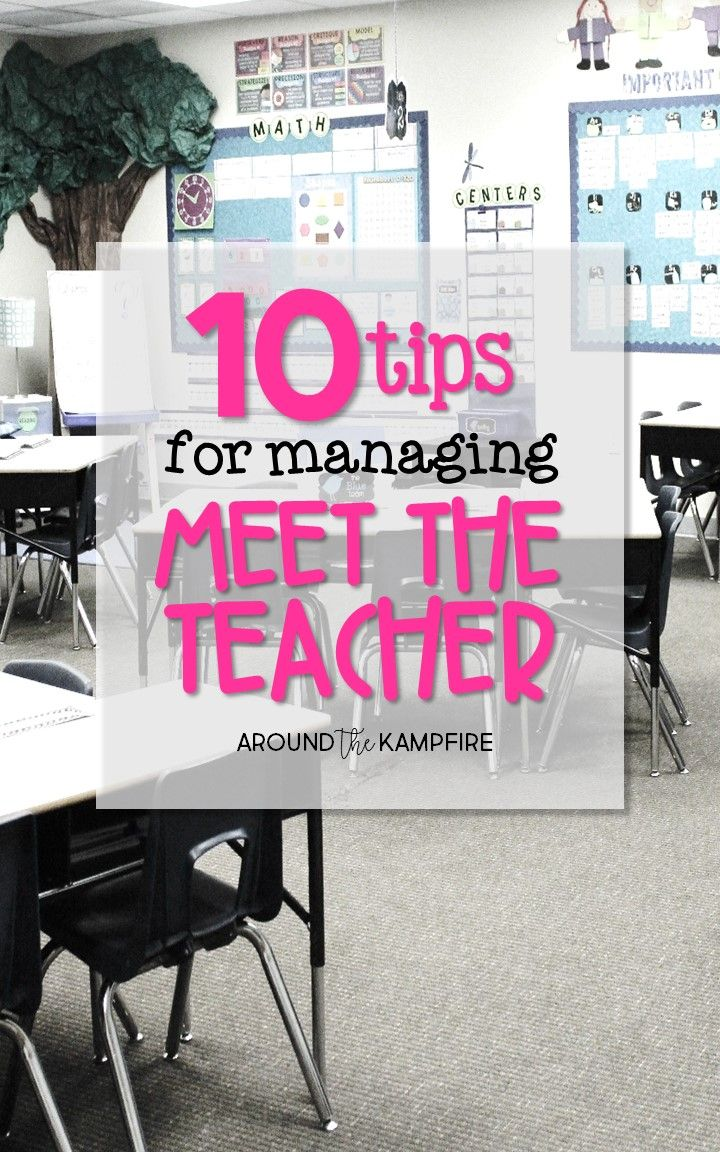 10 Tips for Managing Meet the Teacher Night. Organize, communicate, and manage back to school night like a pro!