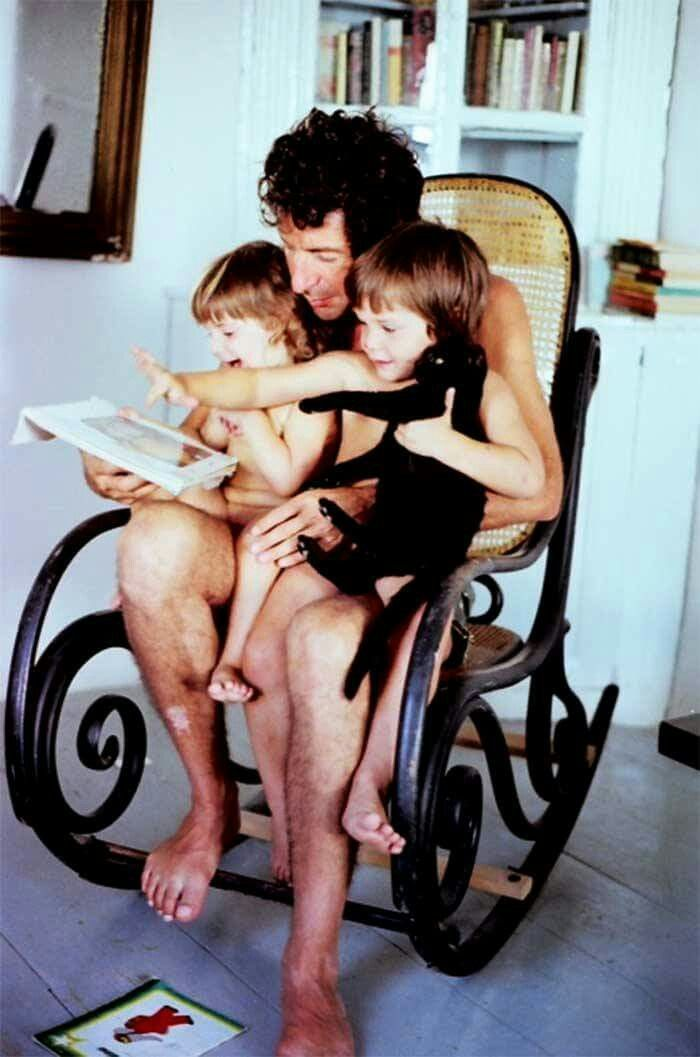 Leonard Cohen and his children