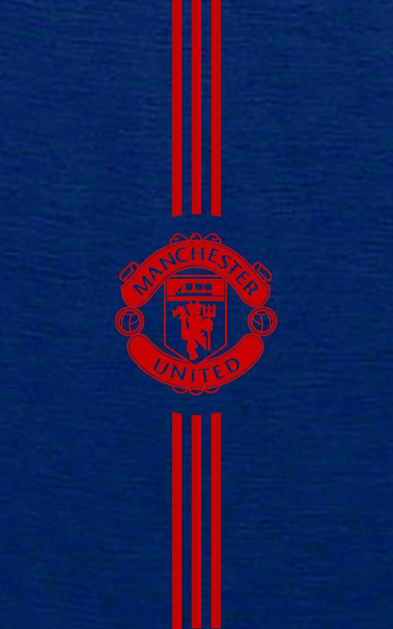 Manchester United 2016/2017 Away Blue Android Wallpaper